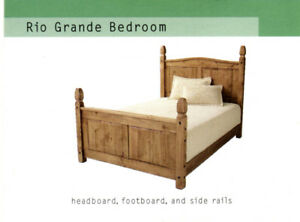"Solid ""Distressed"" Pine Queen bed"
