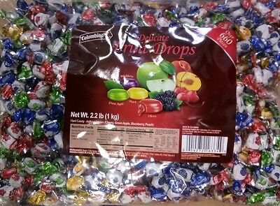 Delicate Fruit Drops Hard Candy 2 2 Lb Bag Wrapped Party Office Event Colombina