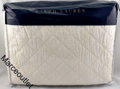 Ralph Lauren Cassie Aven FULL / QUEEN Quilted Coverlet Cream