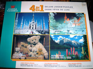 Boxed set of 4 Puzzles