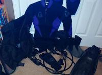 XS Cold Water Scuba Gear Set