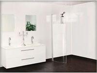 White Shower and Wall Panels