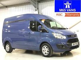 FORD TRANSIT CUSTOM LIMITED LWB HIGH ROOF L2H2 125PS IDEAL CAMPER OR DAY VAN
