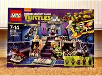 Lego Turtles Shredder Lair Rescue New