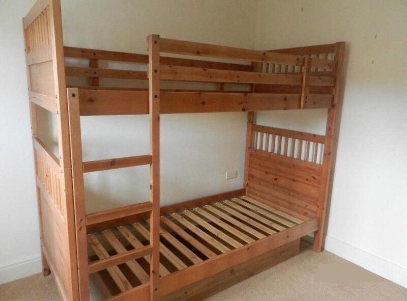 Ikea Hemnes Bunk Bed 2 Single Beds Including Mattresses In