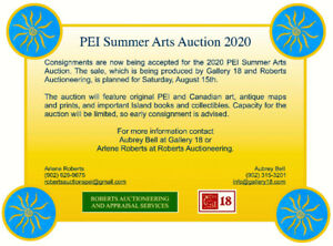PEI Summer Arts Auction 2020 - Consignment Call!