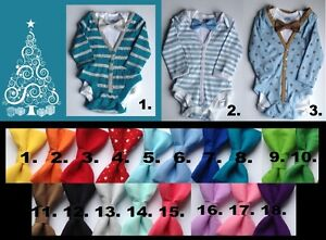 Baby boy onesie cardigans with tie for Christmas, 12-18 months