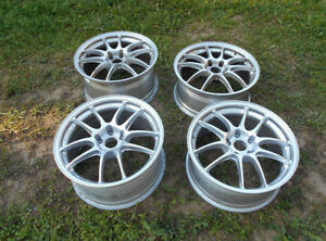 "18"" Enkei PF01 Staggered Wheel Set- 5 Rims - One New"