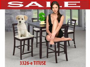 kitchen & dinette full sets tables, leather arm chairs, 3326-et
