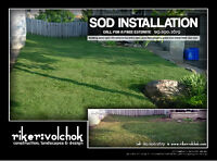 Professional Sod Installation SPECIAL   -  Flat Rate No Gimmicks