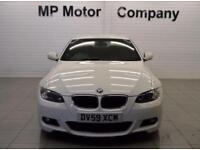 2009 59 BMW 3 SERIES 2.0 320I M SPORT 2D 168 BHP 6SP SPORTS COUPE, MET WHITE,