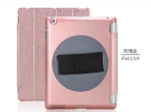 iPad case 全新苹果iPad 玫瑰金手持保护套