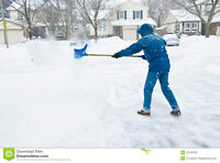 will shovel driveways 10-20$ depending on size
