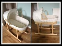 Rocking moses basket