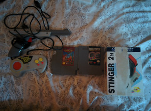 Nintendo NES games and controllers