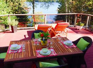 Magnifique propriété sur le bord d'un lac navigable à vendre