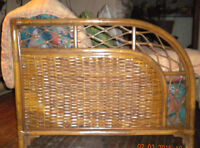 """""""ANTIQUE BAMBOO COUCH & LOVESEAT """""""