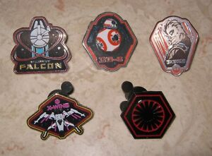 Star Wars épinglettes Chewie BB-8 X-Wing First Order Falcon pins