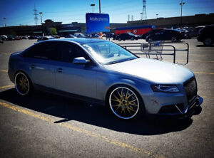 Audi A4 Quattro sitting on 20-inch rims staggered