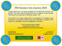 2020 PEI Summer Arts Auction Consignments