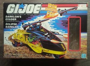 Vintage GI Joe Cobra Darklons Evader vehicle and figure with box