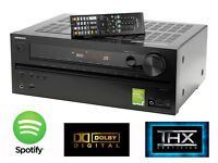 Onkyo TX-NR515 7.2 Network AV Reciever, 8x HDMI in, 2 HDMI out, 4K UPSCALING, with spotify