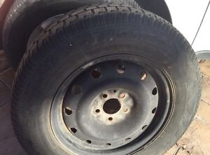 Snow tires and rims - set of 4 - 16 inches excellent price!