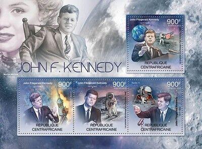 JFK John F. Kennedy & NASA APOLLO XI Moon Landing Space Stamp Sheet (2012 CAF)