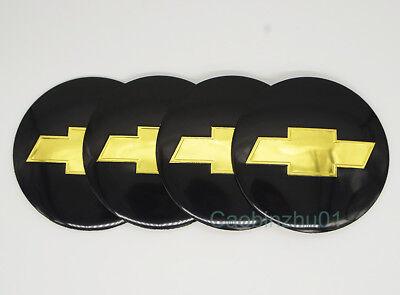 4Pcs 56.5mm Car Logo Wheel Center Caps Covers Emblems Stickers For Chevrolet