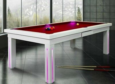 7 Vision Convertible Modern Pool Billiard Table Dining Office Fusion   New York