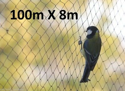 100m x 8m Wide Bird Netting Strong Garden Pond Fruit Anti Net Protection Cage