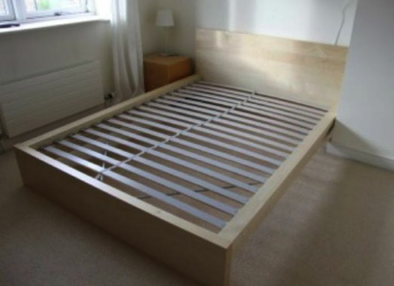 ikea malm bed frame 180x200 with orthopedic slatted base very good conditions