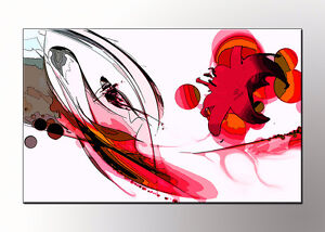 Quadri moderni astratti rosso dipinti a mano olio su tela for Quadri moderni orchidee