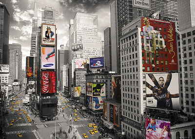 RIESEN Poster NEW YORK - Times Squares ca1,40x1m NEU FL388