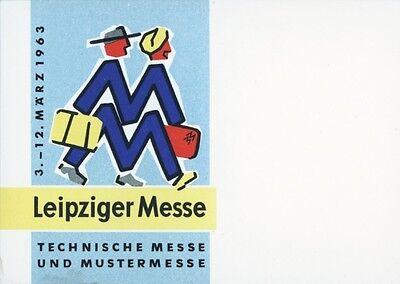 * * * LEIPZIGER MESSE * * * Flyer f. Technische Messe/ Mustermesse - 1963 !!