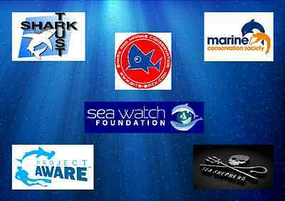 The Shark and Marine Conservation Charities I support.