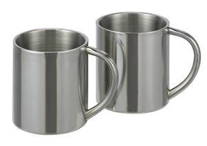 2 Edelstahl Thermobecher Becher Thermosbecher Kaffeebecher Isolierbecher Tassen