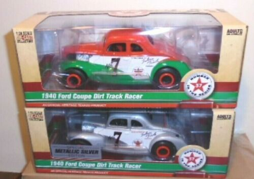 2020 TEXACO 1940 FORD COUPE DIRT TRACK RACERS REGULAR & SPECIAL #37 IN SERIES