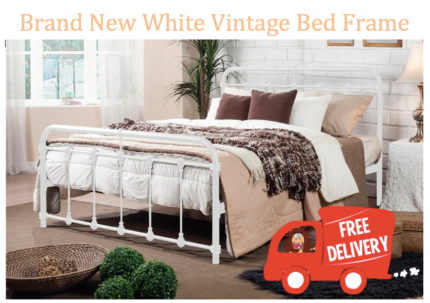 new vintage look queen bed frame free delivery