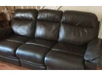 Three seater recliner settee