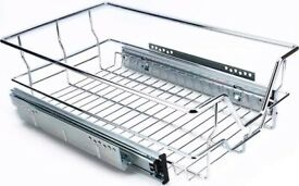 Kitchen sliding cabinet, metal x 2