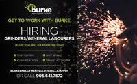 GENERAL LABOURERS/GRINDERS | Temporary - FT/PT | ST. CATHARINES