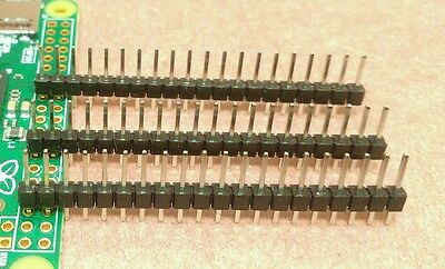 3 X 20 Pin Male Single Row .1 Header Gpio Connector Pi Zero More