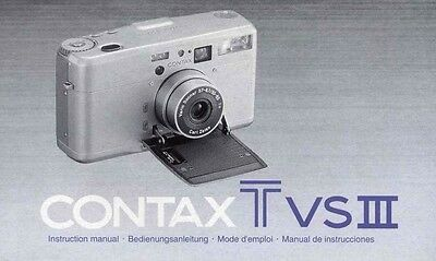 Contax T VS III Bedienungsanleitung Manual Instruction neu