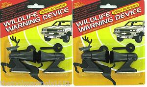 4 Ultrasonic Car Deer Warning Whistles - 2 packs - auto safety alert device
