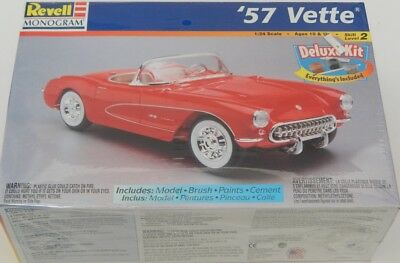 1:24 Scale Revell-Monogram ''57 Vette Deluxe kit 85-6669 SEALED R15655