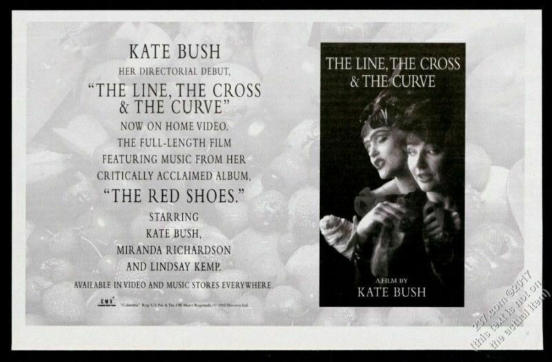 1994 Kate Bush photo The Line The Cross & The Curve film vintage print ad