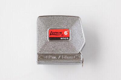 Vintage Lufkin Tape Measure W926 6' with Belt Clip