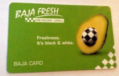 BAJA FRESH MEXICAN GRILL COLLECTIBLE GIFT CARD --0--- VALUE RECHARGEABLE