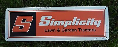 (SIMPLICITY Lawn Garden Tractor Mower SIGN Snapper Advertising Logo PARTS REPAIR )
